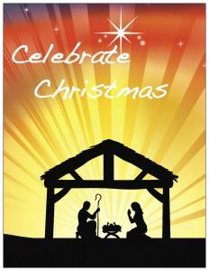 Celebrate Christmas Tall Border